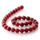 Ruby Jade round beads 12 mm