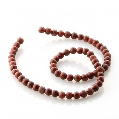 Sesame Jasper round beads 6 mm