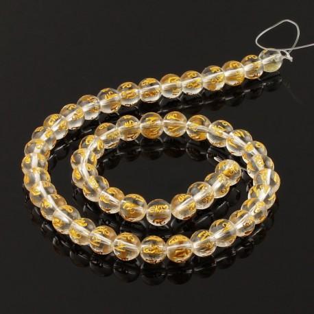 Om mani padme hum glass round beads
