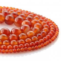 Carneola round beads