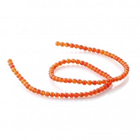 Carnelian round beads 4 mm