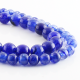 Blue Dragon Agate round beads