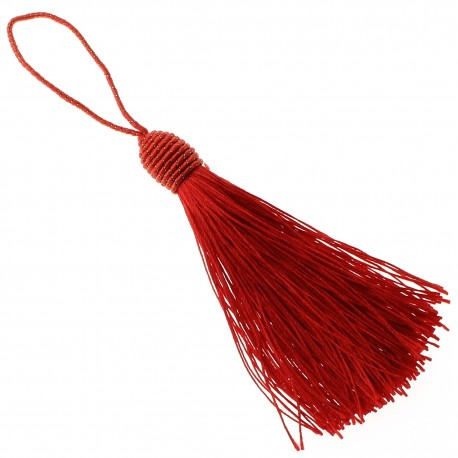 Tassel with bow - red