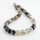8 mm Gray Dragon Agate round beads