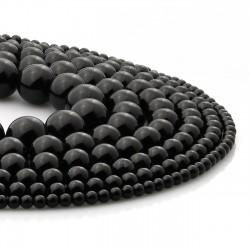 Ónix negro - cuentas en tiras