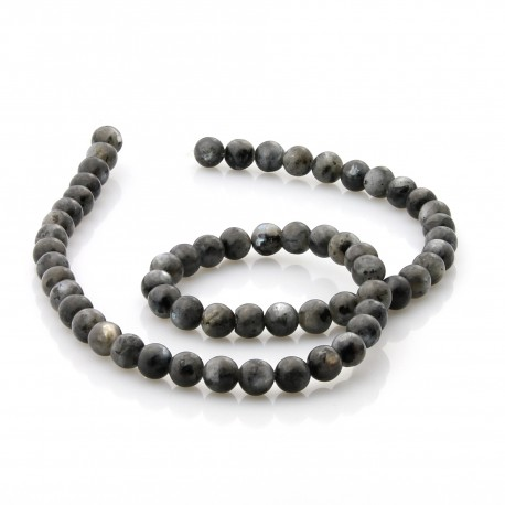 Natural labradorite 6 mm beads