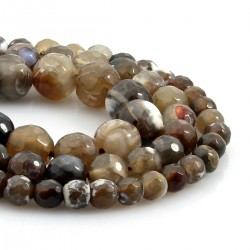 Natural agate faceted beads