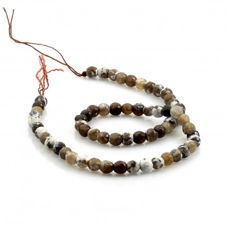 6 mm Natural agate faceted beads