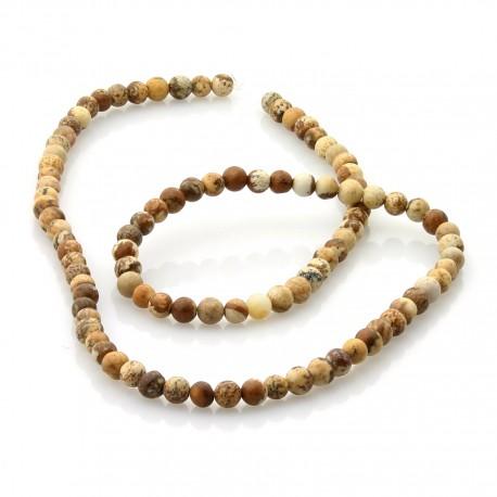 Paisina jasper in 4 mm round beads