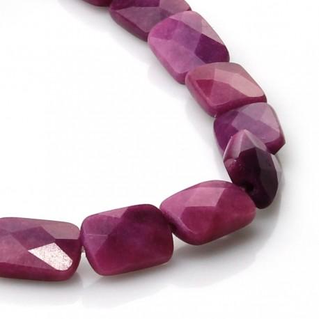 Fuchsia jade briolette beads