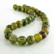 12 mm Green Dragon Agate round beads