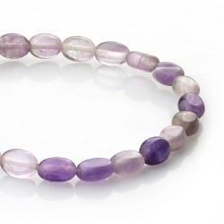 Amethyst - oval beads