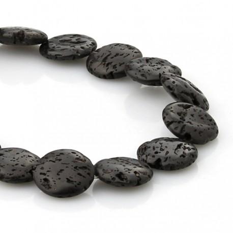 Circular lava beads