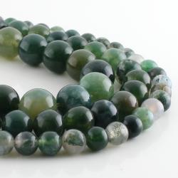 Gray Dragon Agate round beads
