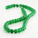 6 mm Green jade round beads