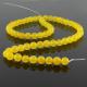 Yellow jade round beads