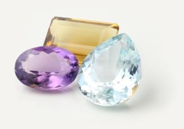 Faceted gemstones